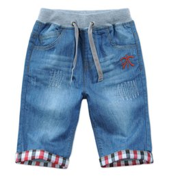 Wholesale dhl jeans - Boys Denim five pants in leisure pants in 2017 European children fashion tidal range kid216 dhl