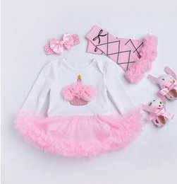 Wholesale Hundreds Clothing Wholesale - 2017 female baby baby autumn long sleeve conjoined ass fir skirt ha skirt jersey full moon hundred days old shooting clothes