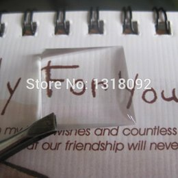 Wholesale Square Epoxy Stickers - 500Pcs 20*20MM Square 3D Clear Epoxy Sticker Resin The Time Gem Necklace Bead Caps Accessories Never Yellowing
