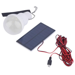 Wholesale Indoor Solar Powered Led Lamps - Outdoor Indoor Solar Powered led Lighting System Light Lamp 1 Bulb solar panel Low-power camp night travel used 5-6hours