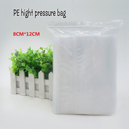 Wholesale Self Sealing Pe Bags - 8*12cm PE Clear Plasti bag gift Packaging bags for necklace jewelry ziplock clear self seal Thicker bags Spot 100  package