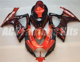 Wholesale Suzuki Gsxr Fairing Orange K6 - Free gifts+Seat Cowl New bike Fairing Kits For SUZUKI GSXR 600 750 K6 06 07 GSXR-600 GSXR750 GSXR600 GSXR-750 2006 2007 good orange black