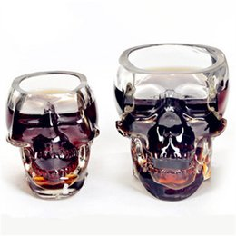 Wholesale Home Wares - Wholesale- Doomed Skull Glass Wine mug Beer Glasses Wine Whisky Novelty Cup Cheap Horror Toy for Christmas Home Drinking Ware Hot search
