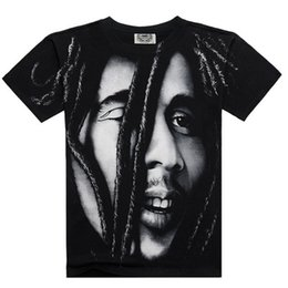 Wholesale Freedom T Shirts - Brand BOB MARLEY T shirts 3D Ful Printed Famous Design For Man Tees Heavy Metal Rock Band T-shirts For Freedom