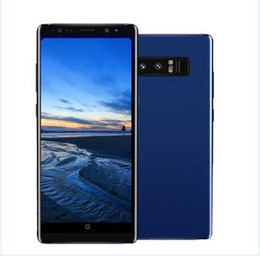 Wholesale Phone Dual Core - ERQIYU Goophone note 8 note 7 Edge MTK6592 Octa Core 4G 128G Shown 4G LTE 6.2inch Android 7.0 Smart Cell phones