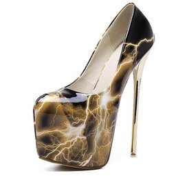 Wholesale High Comfortable Platform Wedding Shoes - Sexy Platform Shoes Women Extreme High Heels Stiletto Heel Wedding Party Shoes Woman Pumps 18cm Comfortable Women Shoes