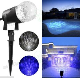 Wholesale Christmas Lightings - Waterproof Magical Spotlight Rotating Led Projector Light with Flame Lightings Christmas Festival Decorations for Home Garden Landscape MYY