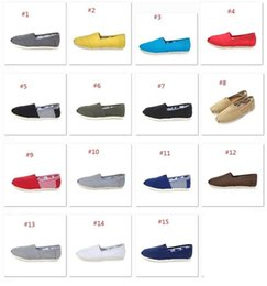 Wholesale Cheap Fashion Shoes Wholesale - For Tomas Shoes Fashion Women casual solid canvas shoes Cheap flat pattern stripes lovers Glitter Classic canvas shoes