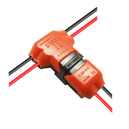 dc-klinkenstecker Rabatt 5 teile / paket Drahtgelenk Schnellverbinder Stecker mit Kein Abisolieren Hauptkabel 22-18 AWG Zweig 22-20AWG