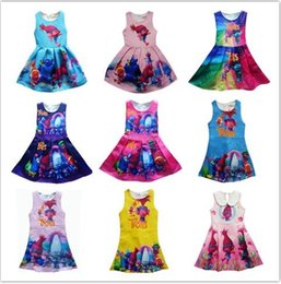 Wholesale Cartoon Character Costume Princess - 2017 13 Style Children's clothing childrens skirt cartoon eif girls princess dress baby sleeveless dress children's Halloween costumes