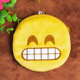 Wholesale Smiley Face Purses - Wholesale- Emotion Icon Coin purse kids smileys kawaii bag coin pouch children's purse holder cute smile face coin wallet