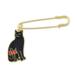 Wholesale Celtic Wedding Designs - Free Shipping New Design Brooch Jewelry Gold Color Alloy Pin with Black Enamel Cat Shape Brooch Pins for Women Jewelry
