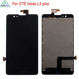 Wholesale Blade Lcd - For ZTE Blade HN V993W L3 plus LCD Display Touch Screen Digitizer Assembly For ZTE Blade L3 Plus Screen LCD Phone Parts