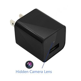 Wholesale Mini Usb Home Charger - 8GB 16GB 32GB 1080P Mini SPY Hidden DVR Wall AC Plug Adapter Camera Video Cam Portable Home Security Camcorder Spy USB Charger Camera