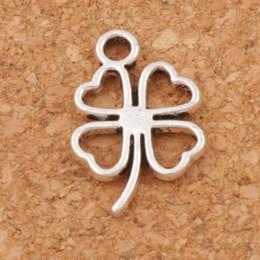 Wholesale Jewelry Pendants Wholesale Leaf - Open Clover Leaf Charms Pendants 300pcs lot Antique Silver Jewelry Findings & Components DIY L368 11.3x17mm Tibetan Silver