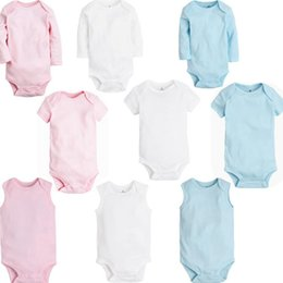 Wholesale Toddler Shorts For Summer - Organic Cotton Baby Clothing Summer Spring   Autumn Solid O-Neck Toddler Bodysuit Baby Clothes 9styles for 3M-24M