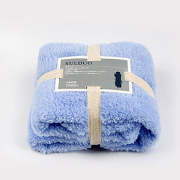 Wholesale Wholesale Super Absorbent Towels - Soft Face Towel Coral Fleece Towels Of Strong Water Imbibition 34*80CM Washcloth Towel Super Absorbent Home Textile Supply By DHL