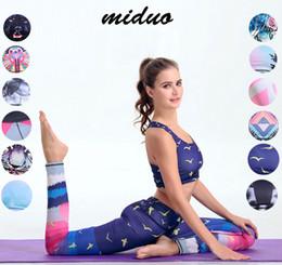 Wholesale Purple Yoga Pants Xs - Women Yoga Suit Outfits 12 colors Fitness Clothes Yoga Women Fitness Yoga Set Quick Dry Bra & pants Sport Sets Gym Running Suits