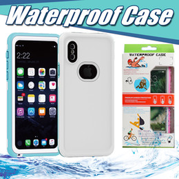 Wholesale New Waterproof Shockproof Case Iphone - NEW Waterproof Case Shockproof Snowproof Dirt Snow Proof Case For Iphone X 8 Plus 7 6 6S Samsung S8 With Retail Package Free Ship MOQ:10pcs