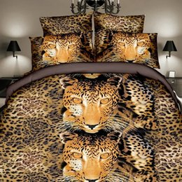 Wholesale Leopard Print Duvets - muchun Brand 3D Bedding Sets 4 pcs Bedding Comforter Set Duvet Covers Leopard Printing Bed sheet Queen Size Home Textiles