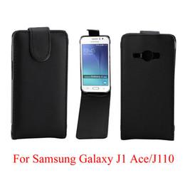 Sacchetti di asso della galassia di samsung j1 online-Flip Cover per Samsung Galaxy J1 Ace J110 cassa del telefono Back coque leather Flip verticale Up-Down Open skin pouch Copertura del telefono