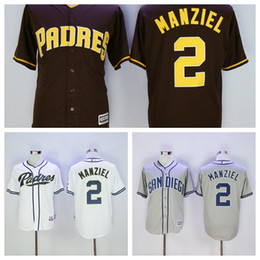 2017 johnny manziel jerseys San Diego Padres Jerseys 2 Johnny Manziel Maillot Flexbase Cool Base Chemises Johnny Manziel Maillots de Baseball Maillot Gris Gris Blanc johnny manziel jerseys ventes