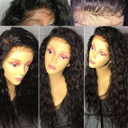 Wholesale Curly Natural Wig - Human Hair Lace Wig Curly Lace Front Wigs Full Lace Wigs With Baby Hair Brazilian Virgin Hair 150 Density Natural Hairline Bleached Knots