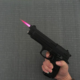 Wholesale Military Guns - Large Metal Pistol M9 Military Model Gun Prop Metal Lighter Windproof 1: 1 Metal Revolver Type Gun Lighter..