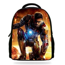 Wholesale Ironman Backpack - 14Inch Popular Ironman Backpack For Children The Avengers Print Bag For Kids Boys Teenager Bags For Girls