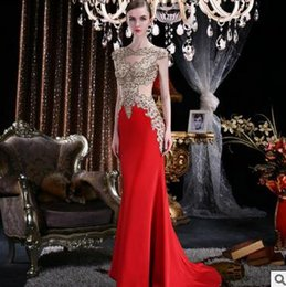 Wholesale Sexy Host - NewFashion Dresses Appliquedlace wedding SexyToast Banquet Host Backless Hollow Embroidered Prom Cocktail Party Dresses Mermaid Freeshipping
