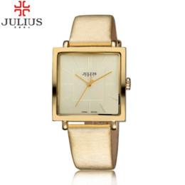 Wholesale Limited Edition Girls Dresses - 2016 Top Brand Julius Women Girl Dress Watches Profession OL Fashion Ultrathin Square Vintage Ladies Wristwatch Relogio Feminino