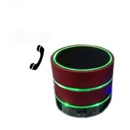 Canada Nouveau haut-parleur de LED S09 Haut-parleur amélioré 3 LED Light Ring Super Bass Métal Mini Portable Beat Hi-Fi Bluetooth Handfree Mic Stéréo USB Haut-parleurs cheap enhanced mini usb Offre