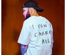 Wholesale I Hip Hop Shirt - I DON'T CARROT ALL hip hop Hot fashion tee shirts 2017 HEYBIG harajuku t-shirt Asian mens size!! tops SUMMER cartoon tops