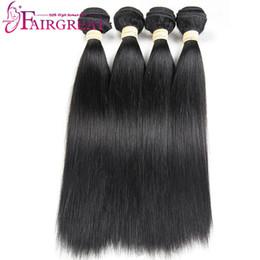 Wholesale Bad Hair - Brazilian Straight Human Hair 100% Uprocessed Brazilian Straight Human Hair Extensions 4pcs lot Brazilian Human Hair Weaves No Bad Smell