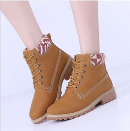 Canada Bottes Femmes Mode 2017 Taille 36 ~ 41 Chaussures Casual Boot Bottes Outillage Style Anglais women work boots deals Offre