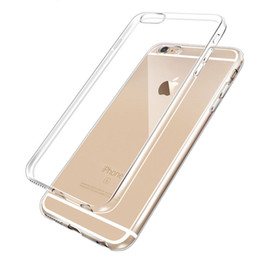 Wholesale Iphone 5s Cases Silicone - For iphone 7 Case Ultra Thin Soft Silicone Crystal Transparent TPU Cover For iphone 6   5S Samsug S7 Case (1 Pcs Free Shiping)