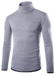 Wholesale Slim Fit Cashmere Sweater - Wholesale- Pullover men cashmere autumn and winter slim turtle neck knited sweater mens Premium Stylish Slim Fit jumpers men Tops