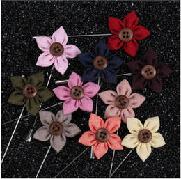 Wholesale China Wholesale Women Suits - Rose Brooch Handmade Boutonniere Stick Brooch Pin Accessories for Men Women Suit Men Lapel Pin Brooches AOP--017