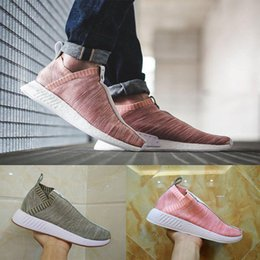 Dame ville en Ligne-2017 Originals NMD_CS2 PK Chaussures de course rose gris Consortium NMD City Chaussette 2 Tan BY2597 Femme Chaussures Baskets Hommes Chaussures Femme EUR 36-45