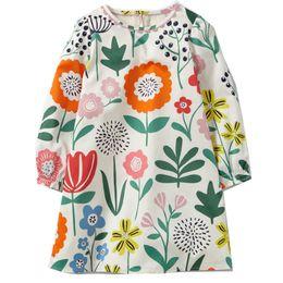 Wholesale Dress For Animals - Girls Dress with Patterns Designer Autumn Robe Fille Kids Dresses for Baby Girls Clothes 100% Cotton Children Dress Princess