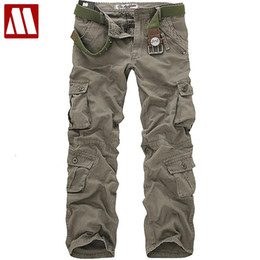 Wholesale Cargos Pants For Sale - Wholesale-free shipping Sale men's casual cotton cargo Pant combat camouflage pants trousers for man W28 29 30 31 32 33 34 36 38 CP001