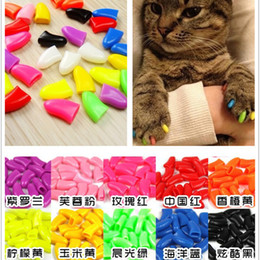 Wholesale Paw Care - direct selling grooming tools nail care custom new sparkle antiscratch soft for cat caps claws cap paw pet cover claw