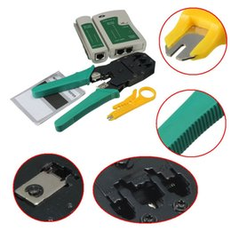 Wholesale Crimping Pliers Rj45 - High Quality RJ45 RJ11 RJ12 CAT5 LAN Network Tool Kit Cable Tester Crimp Crimper Plier NET_005