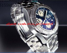 Wholesale Watch Rare - Luxury Watches Wristwatch New SUPERODiving CEAN CHRONO SS DIVERS WATCH BEAUTIFUL RARE BLACK DIAL A13340 WOW Day Date