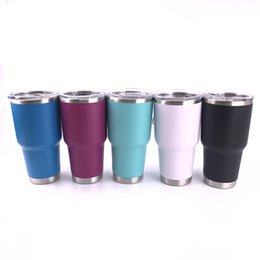 Wholesale Tumblers Drink - 8 Colors 30Oz Stainless Steel Travel Outdoor Mug Cup Vacuum Insulated Tumbler Coffee Mug Double Wall Drinking Cups WX-C60