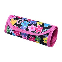 Wholesale Wholesale Knitting Needle Holders - Wholesale- Women National Wind Bag Floral Printing Crochet Pouch Knit Crocheting Needle Case Holder Organizer Bag Bolsa De Maquiagem #7201