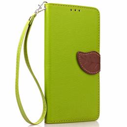 Iphone 5s holster online-I5 5S Handy Fällen Fashion Leaves Magnetic Flip Ledertasche für iPhone 5 5S 5G Card Slot Wallet Holster Schutzhülle