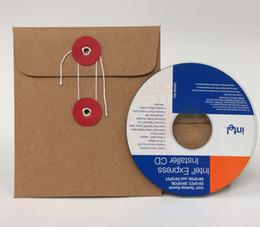 Wholesale Dvd Disc Storage - Wholesale- 20 PCs Kraft Paper CD DVD Disc Paper Sleeve Envelope Holder Storage Case Cover Cardboard Paperboard