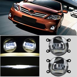 """Wholesale Led Running Lights Inch - 3.5"""" Inch Fog Lamp with CREE LED Chips DRL Daytime Running Light for Ford Nissan Honda Peugeot Citroen Suzuki Mitsubishi Toyota"""