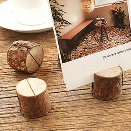 Wholesale Number Place Cards - Creative Wood Place Card Photo Number Name Holder For Vintage Rustic Baby Shower Wedding Party Table Decoration ZA3688